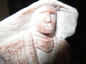 Signed -  Stone Figurine- Native Carving