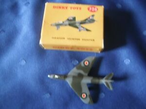 Dinky - by Meccano - Hawker Hunter Fighter Plane #736