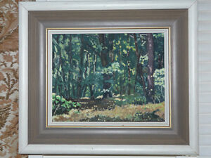 Set of three small oil on board Canadian paintings by D. Duncan