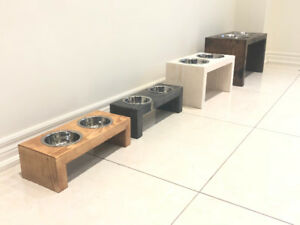 Beautiful,  Contemporary Pet Feeding Station!