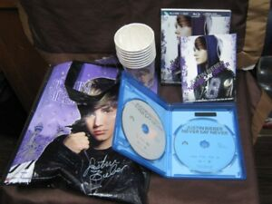 justin bieber dvd never say never, 8 paper cups tote bag