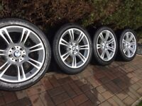 "Genuine BMW 5 6 Series 18"" 350 M Sport Alloy Wheels & Runflat Tyres F10 F11 F12 F13 F06"
