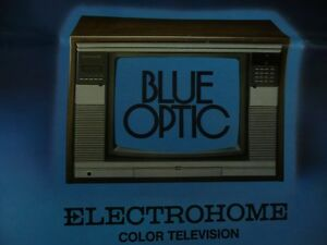 Blue Optic Colour TV