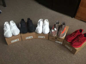 Yeezy Boost 350 and V2 UA shoes + Yeezy Keychain