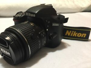 """Nikon D3300 DSLR Camera"" + 18-55 VR II Lens, Strap, Accessories"