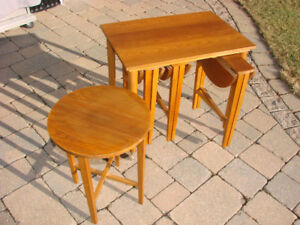 Retro Teak Nesting Tables, Designed by Poul Hundevad in 1960's
