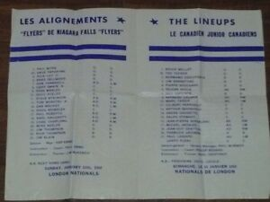 Montreal Junior Canadiens program / Forum Jan 7 1968