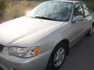 Very Clean 2002 Toyota Corolla LE Sedan only 151,000 km's