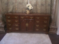 Fancy LARGE Mahogany Cabinet Chest in MINT condition I DELIVER