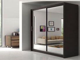 ORDER==NOW FULLY MIRRORED TWO DOOR SLIDING DOOR WARDROBE BRAND NEW WE DO SAME OR NEXT DAY DELIVERY