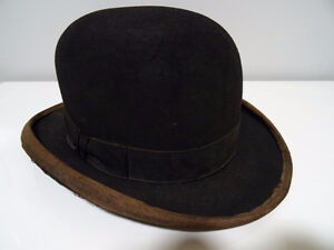 early BOWLER DERBY gent's hat BOND Calhoun's Stores STEAMPUNK Kitchener / Waterloo Kitchener Area image 4