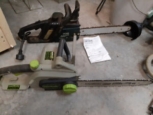 2 electric chainsaws for sale make an offer!