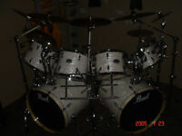 PEARL EXPORT EXR-DRUM SET-DOUBLE BASS DRUM (4500$-VALEUR/VALUE)