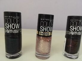 MAYBELLINE Colour Show 2x Crystallize & 1x Barcodes