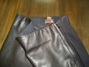 Italian leather leggings