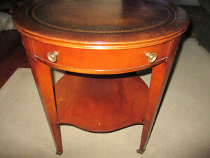 vintage small round table 12 inch diameter