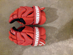 Warrior Lacrosse gloves size 12 in perfect condition.
