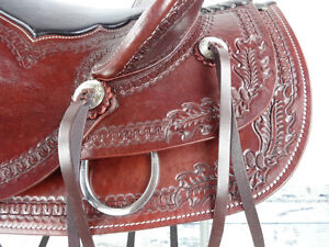 "17"" Western Saddle Wade Roping Pleasure Trail Ranch New London Ontario image 9"