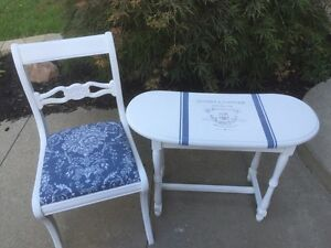 French inspired accent table and chair  Cambridge Kitchener Area image 5