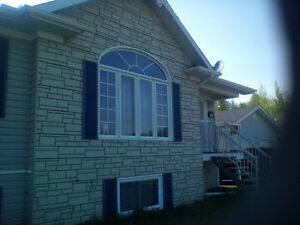 Beautiful 8 year old bungalow in STURGEON FALLS on appr. 1 acre