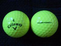 100 Callaway Mixed Model Coloured ( Winter ) Golf Balls . Pearl / A Grade Condition