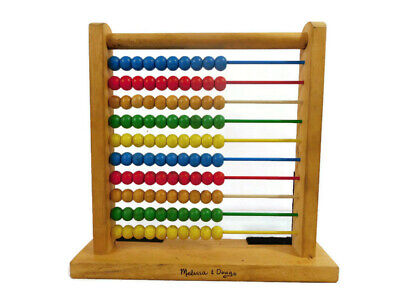 Vintage Classic Melissa and Doug Abacus Wooden Counting Developmental Toy Beads