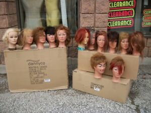 Mannequin heads with human hair,long necks (assorted) NEW&USED