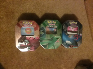 ALMOST EVERY POKEMON COLLECTORS CARD TIN 2003-2011