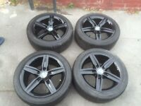 Black BMW alloys 17inch rims with tyres 1 3 series