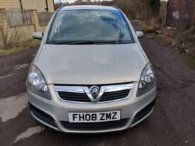 Vauxhall Zafira 1.9CDTi ( 120ps ) Exclusiv 7 SEATER - 2008 08-REG -12 MONTHS MOT