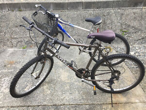2 good condition mountain bikes for sale