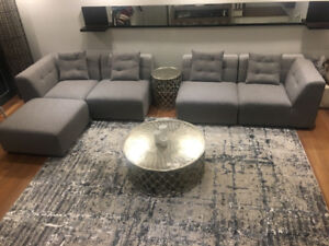 URGENT MOVING SALE/ BRAND NEW MOBILIA SECTIONAL COUCH