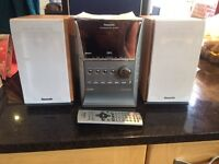 Panasonic stereo, 5 cd changer, speakers and cables