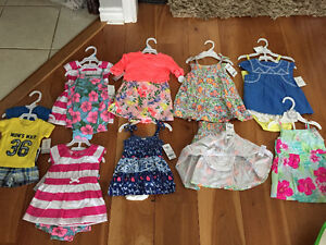 Osh Kosh and Carters 3pc sets and sundress sets