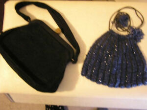 Beautiful Antique Beaded Cluch PursesWhite, Black, Blue London Ontario image 1