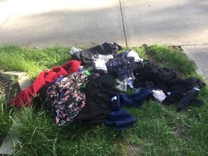 FREE PILE OF CLOTHES CURB ALERT COME GET THEM !