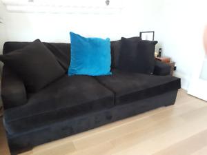 Velvet Sofa and Chair
