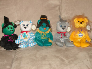 Wizard of Oz Set of 5 Collectible Celebrity Bears