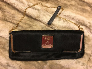 Leather clutch bag .Made in Italy mint condition