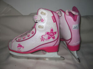 Girl's Rec. Skates (CCM/RBK Glitter Girl) Sizes 12 (Two Pairs)