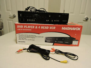 Magnavox DVD Player & 4 Head VCR with line-in recording