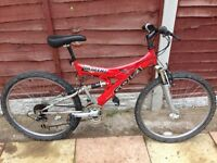 MENS 20 INCH GOLA SUSPENSION MOUNTAIN BIKE 21 SPEED SMETHWICK £45