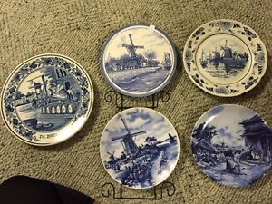 Various stamped Delphi Blue collector plates Peterborough Peterborough Area image 1