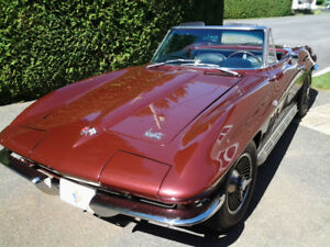 1966 corvette,327/300hp, conv. ,all match. 4 std.,fully restored