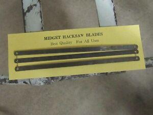1960s MIDGET HACKSAW BLADES $2 EA. MINT ON CARD REPAIR TOOL