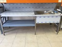 Stainless Steel Large Commercial sink complete Drain set and Tabs