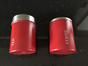 COFFEE AND TEA CANISTERS