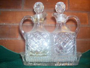 Cut Glass Cruet Set Cambridge Kitchener Area image 1