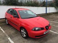 2004 SEAT IBIZA SX 1.2 ONLY 80,000 MILES, 6 MONTHS MOT