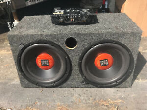 Car amplifier and subs